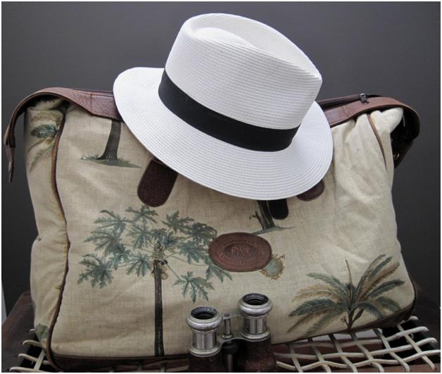 hat binos and bag